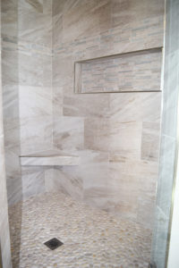 Tile Shower in Ranch-style Home